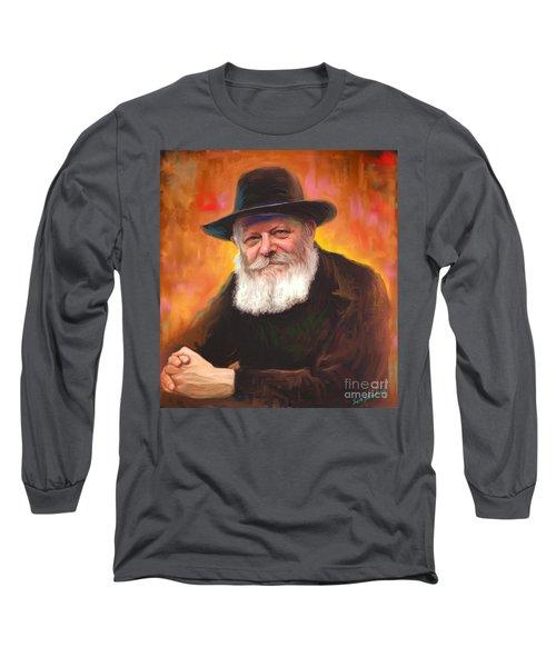 Lubavitcher Rebbe Long Sleeve T-Shirt by Sam Shacked