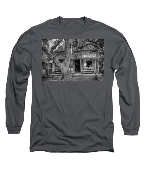Luckenbach 2 Black And White Long Sleeve T-Shirt