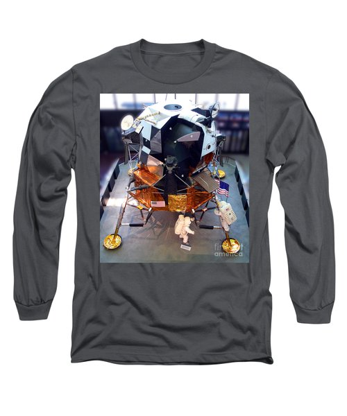 Lunar Module Long Sleeve T-Shirt by Kevin Fortier
