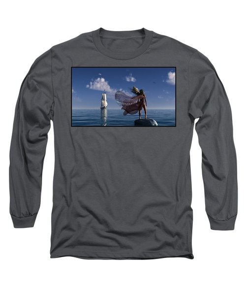Lure Of The Siren... Long Sleeve T-Shirt by Tim Fillingim