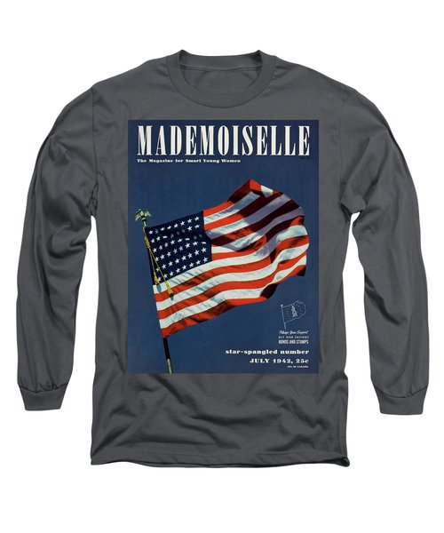 Mademoiselle Cover Featuring The U.s. Flag Long Sleeve T-Shirt