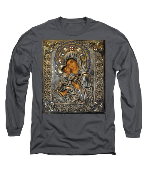 Madonna And Child Long Sleeve T-Shirt by Jay Milo