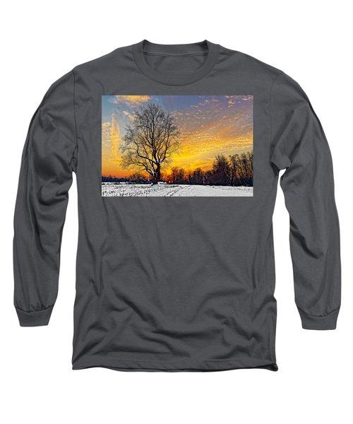 Magical Winter Sunset Long Sleeve T-Shirt