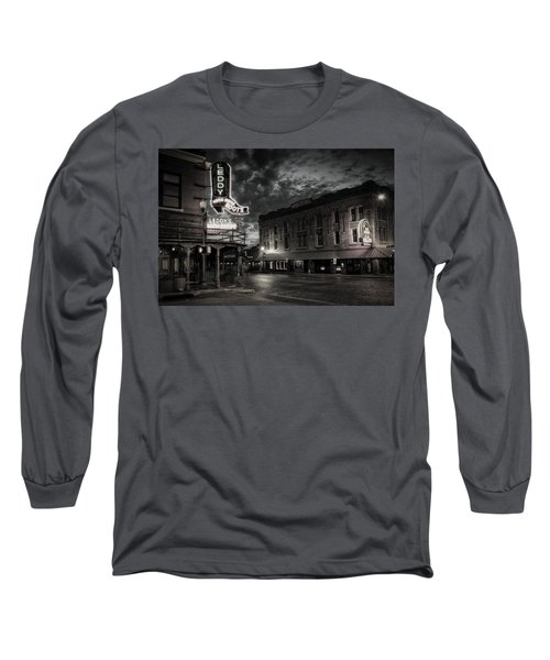 Main And Exchange Bw Long Sleeve T-Shirt