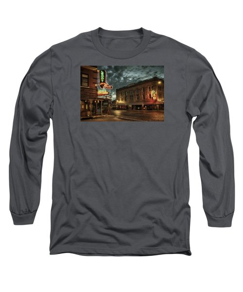 Main And Exchange Long Sleeve T-Shirt by Joan Carroll