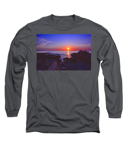 Maine Coast Sunrise Long Sleeve T-Shirt