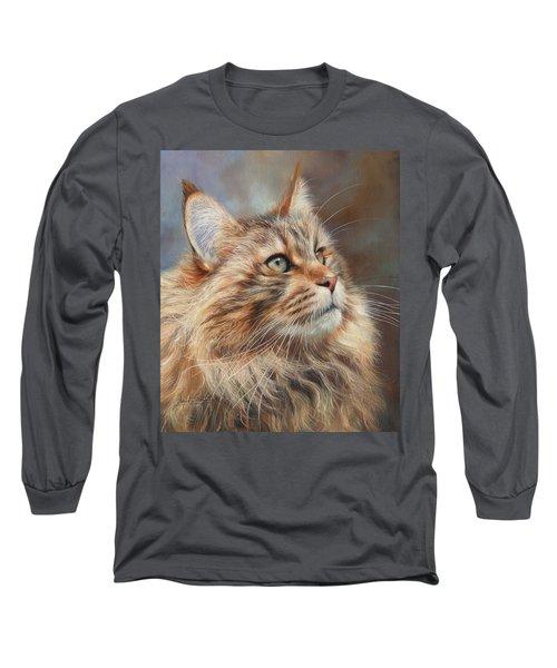 Maine Coon Cat Long Sleeve T-Shirt