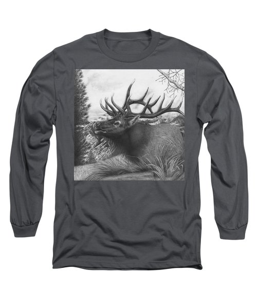 Majestic Bull Elk Long Sleeve T-Shirt