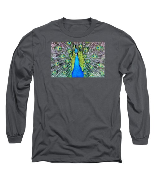 Male Peacock Long Sleeve T-Shirt