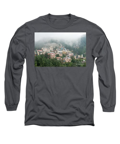 Long Sleeve T-Shirt featuring the photograph Maleod Ganj Of Dharamsala by Yew Kwang