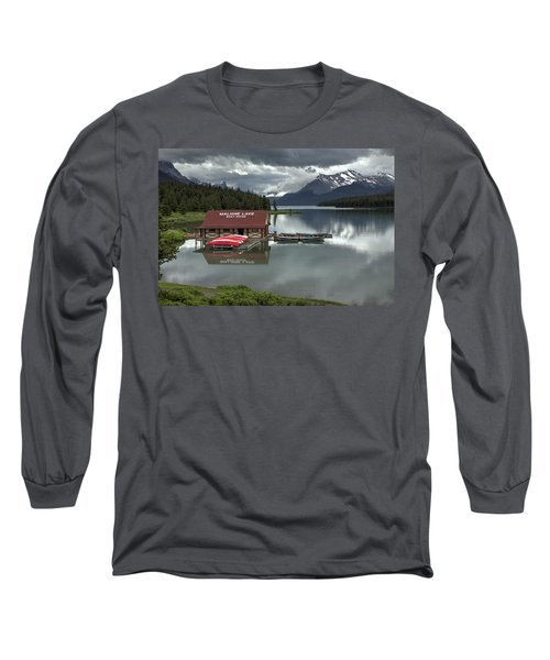 Maligne Lake Jasper Park Long Sleeve T-Shirt