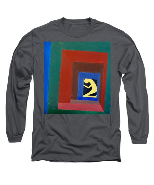 Long Sleeve T-Shirt featuring the painting Man In A Box by Lenore Senior