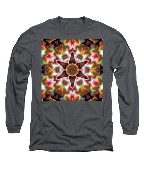 Long Sleeve T-Shirt featuring the digital art Mandala 68 by Terry Reynoldson
