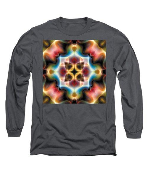 Long Sleeve T-Shirt featuring the digital art Mandala 77 by Terry Reynoldson