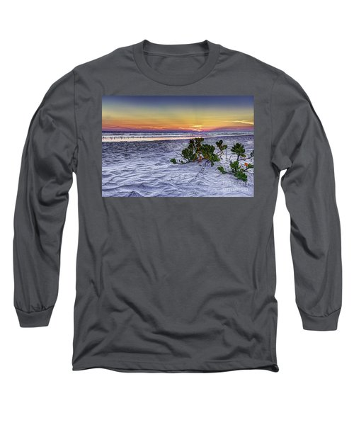 Mangrove On The Beach Long Sleeve T-Shirt by Marvin Spates
