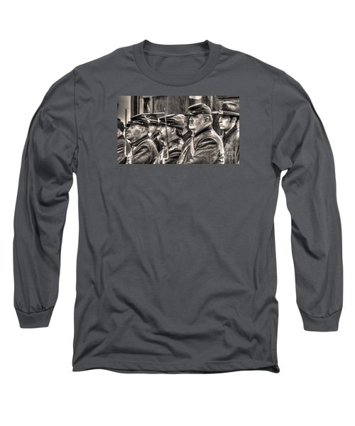 Long Sleeve T-Shirt featuring the digital art Marching Orders by William Fields