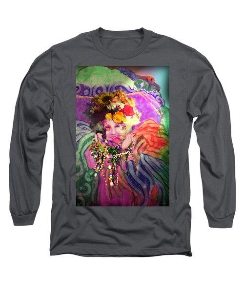 Mardi Gras Queen Long Sleeve T-Shirt