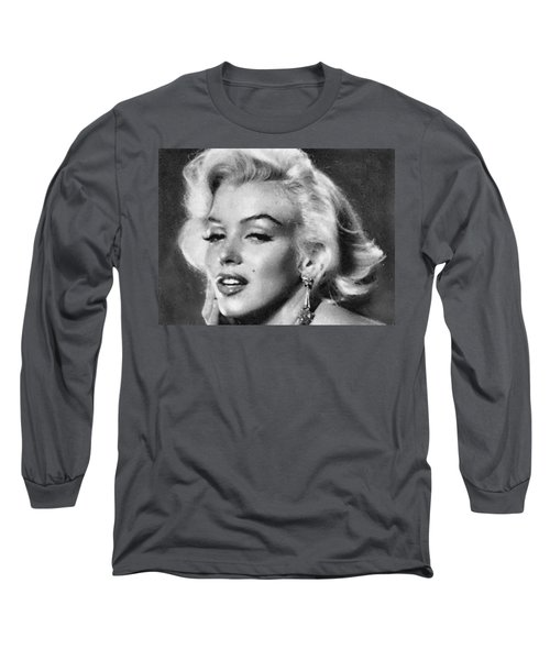 Beautiful Marilyn Monroe Unique Actress Long Sleeve T-Shirt by Georgi Dimitrov