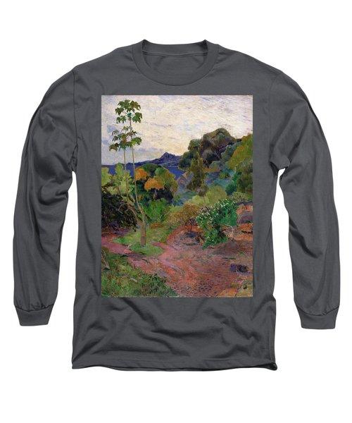 Martinique Landscape, 1887 Oil On Canvas Long Sleeve T-Shirt
