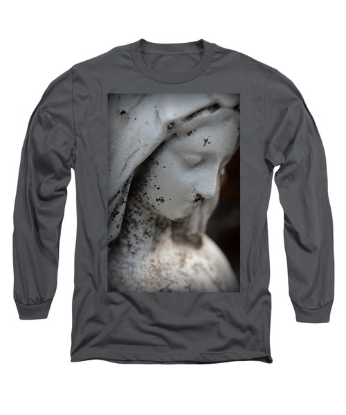 Mary In The Garden Long Sleeve T-Shirt by Lynn Sprowl