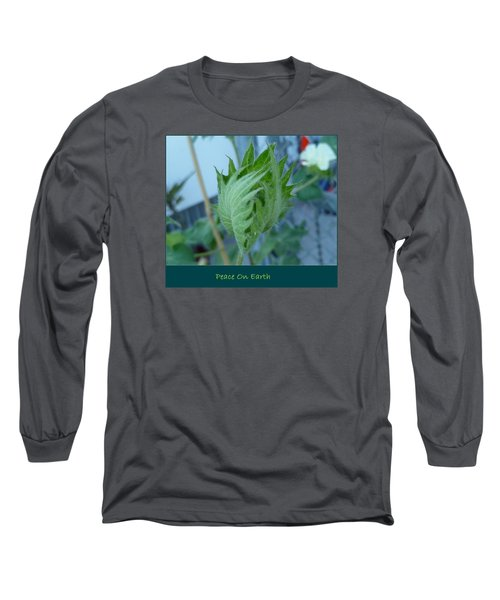 May Peace On Earth Long Sleeve T-Shirt by Lingfai Leung
