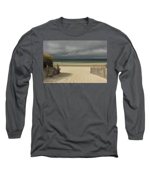 Long Sleeve T-Shirt featuring the photograph Mayflower Beach Storm by Amazing Jules