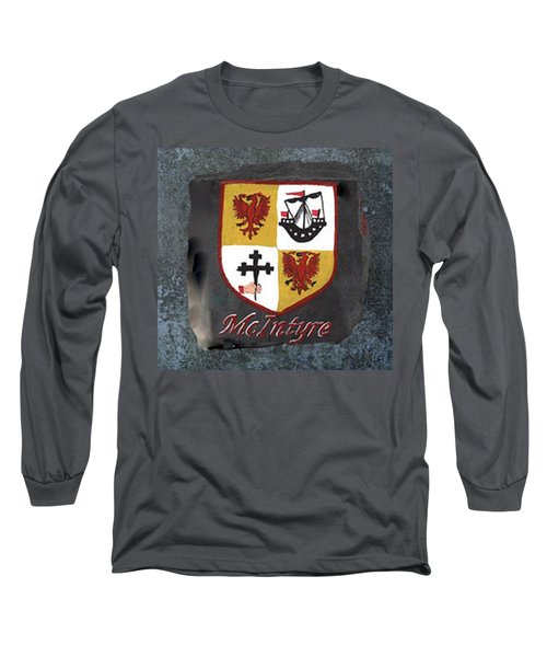 Long Sleeve T-Shirt featuring the painting Mcintyre Coat Of Arms by Barbara McDevitt