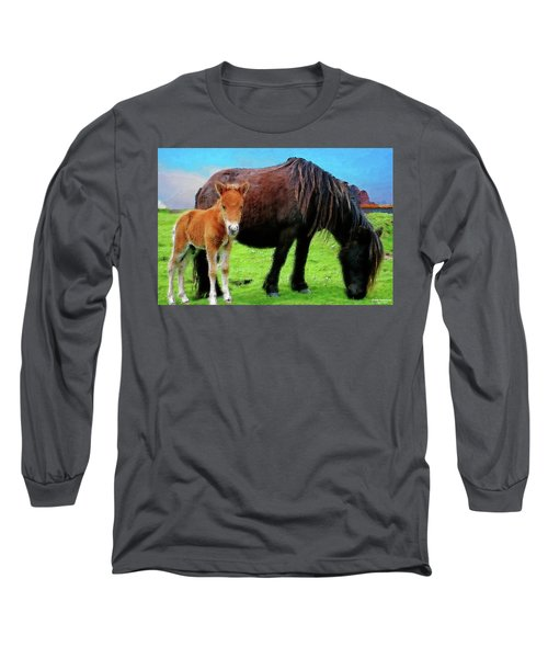 Me And Mum Long Sleeve T-Shirt by Chuck Mountain
