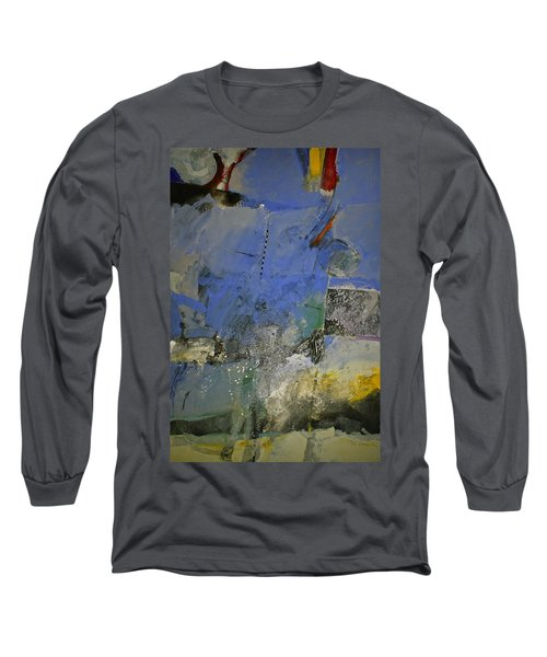 Long Sleeve T-Shirt featuring the painting Meatier Illogical Cold Front by Cliff Spohn