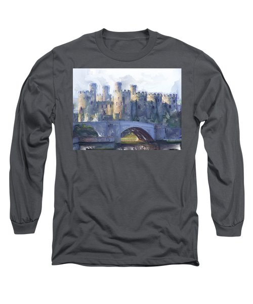 Medieval Conwy Castle.  Long Sleeve T-Shirt