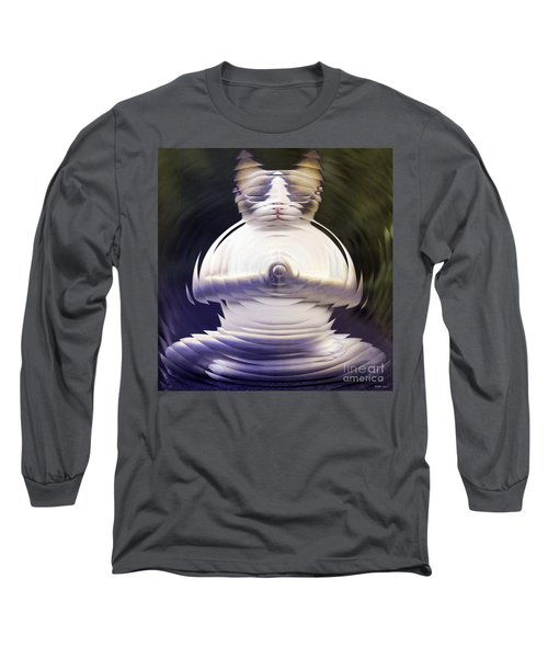 Meditation Kitty Long Sleeve T-Shirt