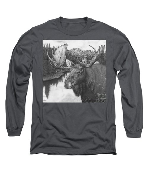 Melozi River Moose Long Sleeve T-Shirt