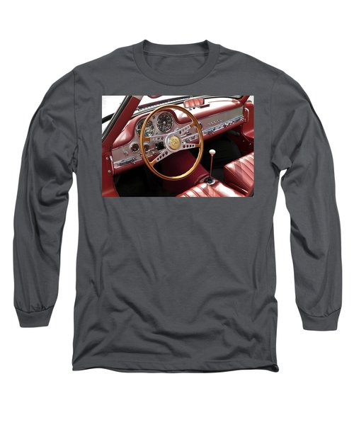 Mercedes Benz Gullwing 1956 Long Sleeve T-Shirt by Maj Seda