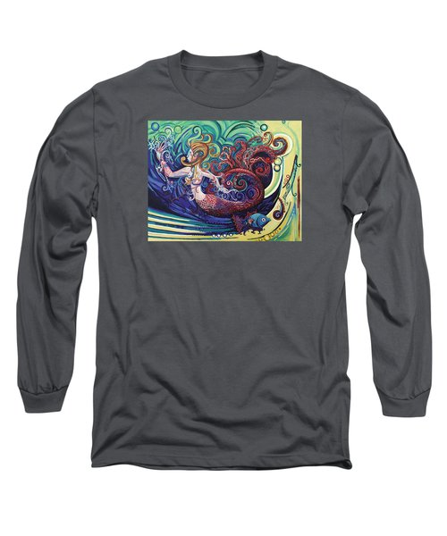 Mermaid Gargoyle Long Sleeve T-Shirt by Genevieve Esson