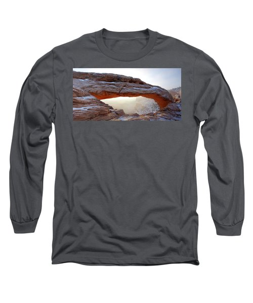 Long Sleeve T-Shirt featuring the photograph Mesa Arch Looking North by David Andersen