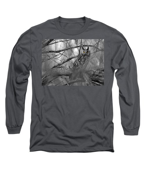 Mesmerizing Eyes Long Sleeve T-Shirt by James Peterson