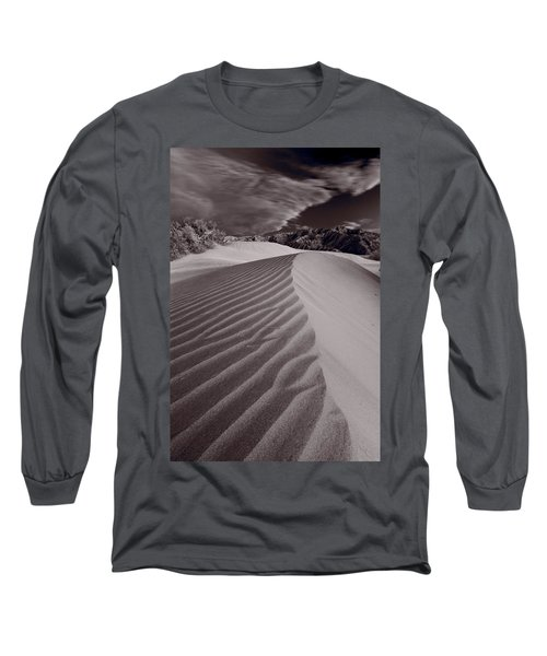 Mesquite Dunes Death Valley B W Long Sleeve T-Shirt