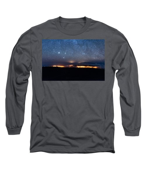 Meteor Over The Big Island Long Sleeve T-Shirt
