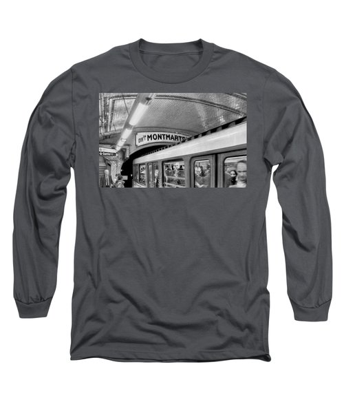 Long Sleeve T-Shirt featuring the photograph Metro At Montmartre. Paris by Jennie Breeze