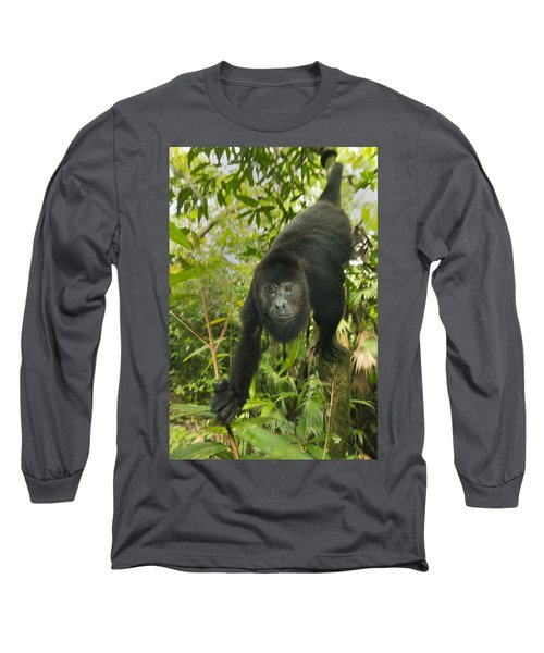 Mexican Black Howler Monkey Belize Long Sleeve T-Shirt