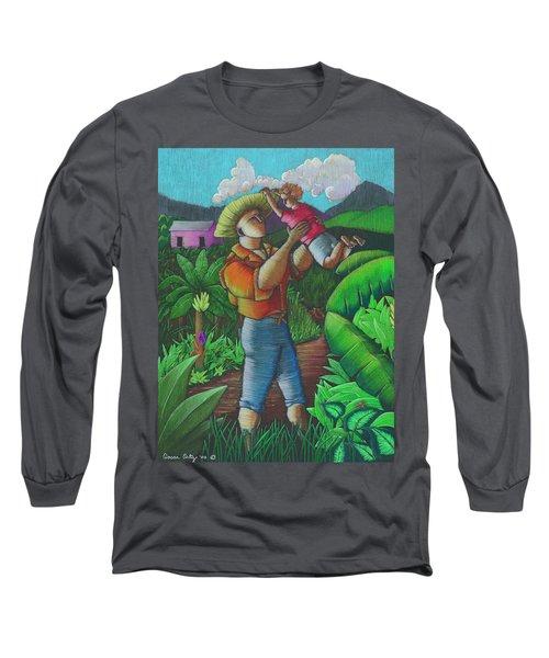 Mi Futuro Y Mi Tierra Long Sleeve T-Shirt by Oscar Ortiz