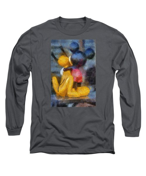 Mickey Mouse Photo Art Long Sleeve T-Shirt