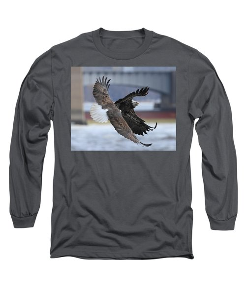 Long Sleeve T-Shirt featuring the photograph Mid Air Fight by Coby Cooper