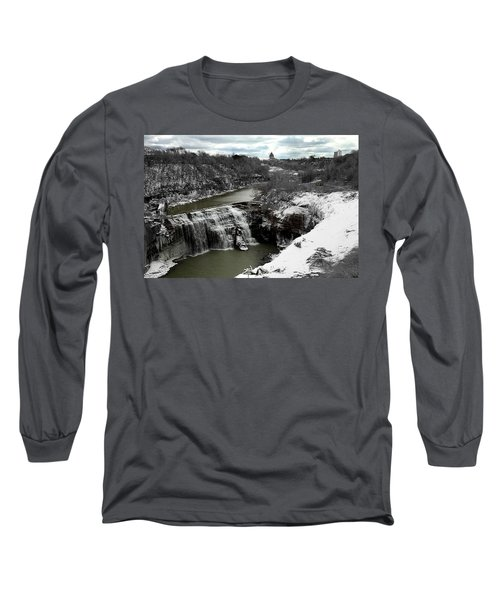 Middle Falls Rochester Ny Long Sleeve T-Shirt by Richard Engelbrecht