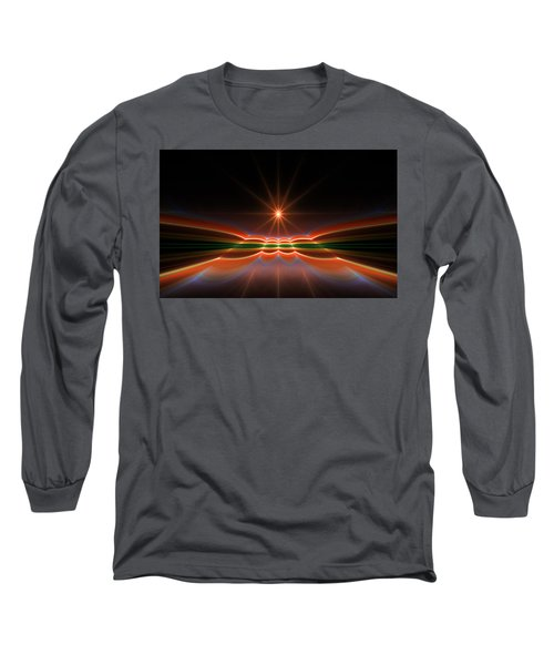 Midnight Sun Long Sleeve T-Shirt by GJ Blackman