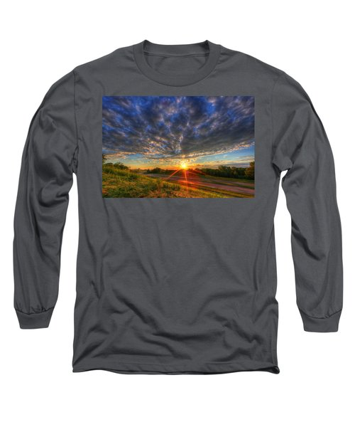 Midwest Sunset After A Storm Long Sleeve T-Shirt