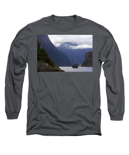 Milford Sound Long Sleeve T-Shirt by Stuart Litoff