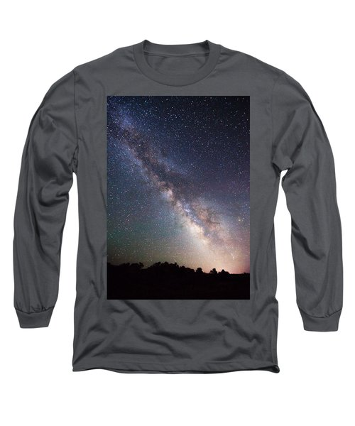 Milky Way On The Rocks Long Sleeve T-Shirt