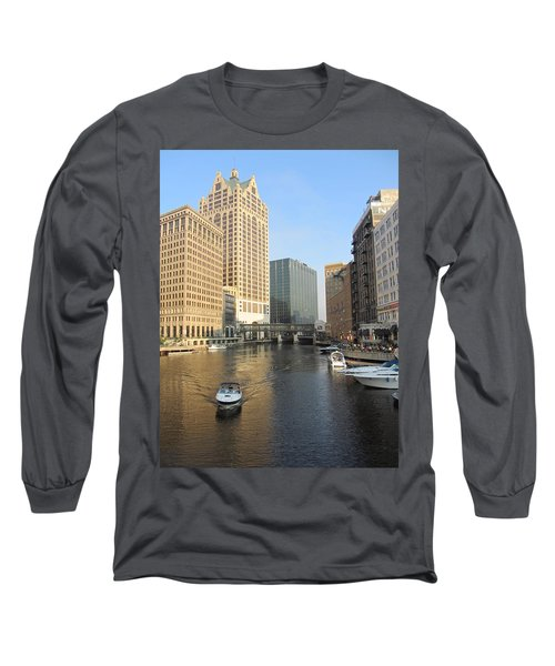 Milwaukee River Theater District 3 Long Sleeve T-Shirt