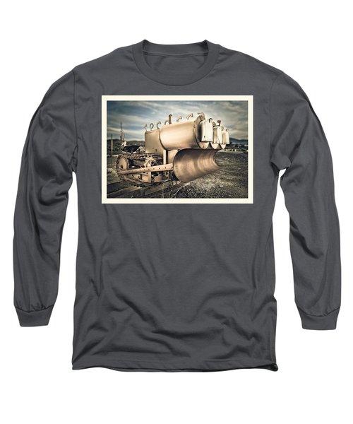 Mini Excavator Mailbox Long Sleeve T-Shirt